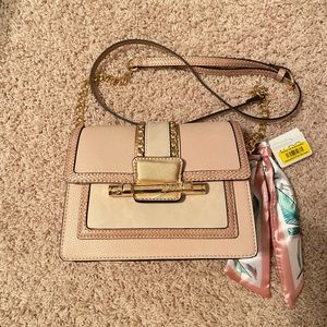 Aldo Pink Nude Crossbody Chain Bag